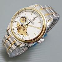 Rolex Skeleton Carerra Rantai Kombinasi Plat White 07025