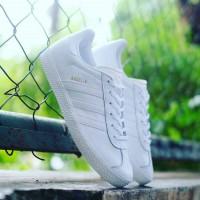 harga Original ! Adidas Gazelle Leather Triple White Tokopedia.com