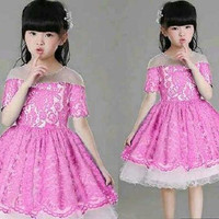 Dress Anak Griselda 3-5 Tahun u/ wanita anak pesta kado hadiah party