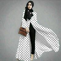 Hijab Vanya Polka Baju Muslim u/ wanita anak hijabers modis halus nyam