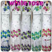 Mukena Bali White Rose Ukuran Besar Bahan Katun Rayon Adem u/ wanita a