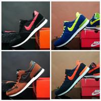 Sepatu Olahraga Nike Pria Running Jogging Kuning Hitam u/ pria wanita