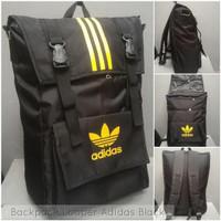 Backpack / Tas Ransel Looper Adidas Black u/ pria wanita keren gaul mo