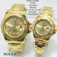 TREND!! Jam Tangan Rolex Couple Stainless Limited