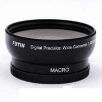 FUTIN 58mm Wide-Angel/0.45x Macro Lens Attachment For Digital Cameras