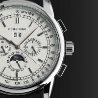 ESS Luxury Men Leather Strap Automatic Mechanical Watch - WM398 - Bl