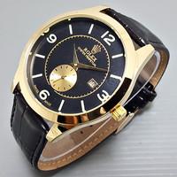 Hot Item Jam Tangan Pria / Cowok Rolex Number Chrono Detik Leather