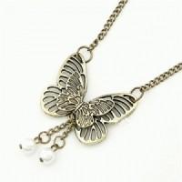 Kalung Kupu Kupu Butterfly Etnik Retro Vintage Panjang Import Korea