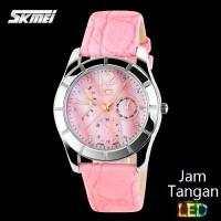Analog Wanita Oeklay Jam Tangan SKMEI Diamond 6911 Pink Original