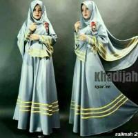 Baju Muslim Gamis Khadijah Bergo/Syari Muslim 2in1