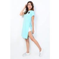 Midi Dress Okechuku Bahan Kaos Korean Style Basic Trendy Fashion