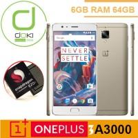 OnePlus 3 A3000 6GB RAM 64GB Gold Oxygen Snapdrgaon 820 Garansi 1tahun