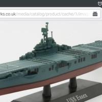 USS ESSEX America Aircraft Carrier WWII 1:1250 Deagostini diecast