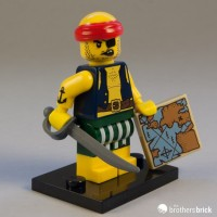 Lego Original Minifigure Scallywag Pirate Series 16