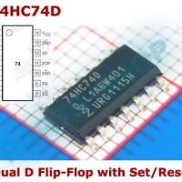 74HC74D smd 7474 Dual Lutch D Flip-Flop with Set Reset IC Logic 74ls74