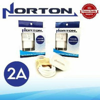 Charger Norton 2A Orignal model charger samsung 2A ampere