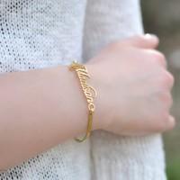 gelang nama gold lapis emas asli 24 karat bisa custom nama kamu