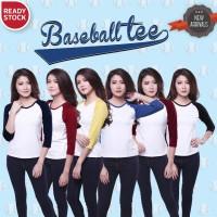 harga BASEBALL TEE kaos pakaian wanita baju murah Tokopedia.com