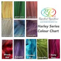 Harley Series Colour Chart - cat rambut warna manic panic pravana