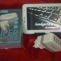 Jual Vivan Adaptor Charger XC4S 4 Port USB Original (Garansi resmi 1 thn) Murah