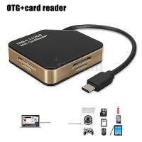 harga USB-C 3.0 HUB Card Reader OTG, Pembaca Kartu Memori SD Micro SD Tokopedia.com