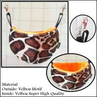 Sleeping pouch sugar glider / doraemon pouch orange giraffe
