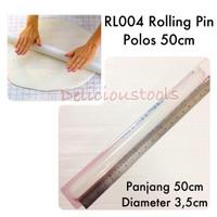 Jual RL004 Rolling Pin Polos 50cm alat hias kue fondant cookies kukis new Murah