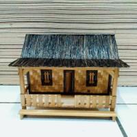 miniatur rumah adat sunda