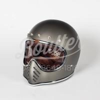 harga Helm Fullface Ff Custom Boulter - Gunmetal Dof - Tokopedia.com