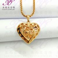 Liontin Hati lafadz Allah Perhiasan imitasi Gold18k Yaxiya Jewelry 320