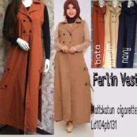 Ferlin Vest Outer | Atasan | Hijab | Baju Wanita | Fashion