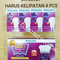 LAMPU PHILIPS LED 7 WATT 7WATT 7W 7 W 1 PAKET ISI 4