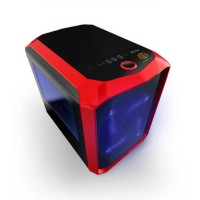 CUBE GAMING RUTOR RED - Mini ATX Case - Side Window - Front 20CM Blue
