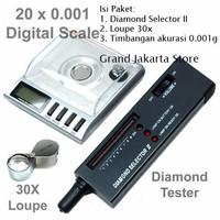 Jual Jual Promo Diamond Selector Ii + Timbangan 0.001 Gram + Loupe 30x Zoom Murah