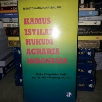 Kamus Istilah Hukum Agraria Indonesia