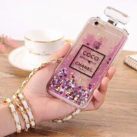iPhone 5 5s Luxury Coco Chanel Water Glitter Soft Case armor bumper