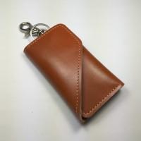 Jual dompet stnk kulit asli unik warna tan | gantungan kunci mobil motor Murah