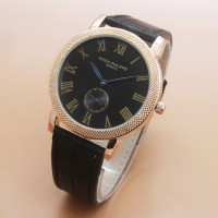 Jam Tangan Pria / Cowok Luxury Patek Phillipe Leather B 00225