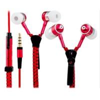 HF Zipper Resleting Bass Earphones Headset Earphone Bahan Stainless