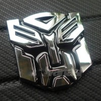 Aksesoris Mobil Emblem Transformers Autobots Chrome