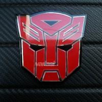 Aksesoris Mobil Emblem Transformers Autobots Merah