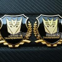Aksesoris Mobil Emblem Transformers Shield Gold