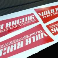 Aksesoris Mobil Sticker Decal Velg Volk Racing