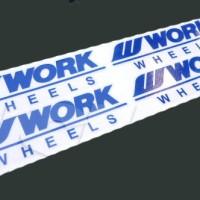 Aksesoris Mobil Sticker Decal Velg Work Wheels