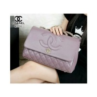 Tas New Model Chanel Maxi Vintage Quited Lambskin Purple