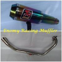 Knalpot Racing Akrapovik GP M1 R15 / Xabre / Vikion / Byson / Jupiter Mx King