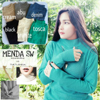Jual HOT MENDA SWEATER turtleneck VS roundhand sweater halter high Murah