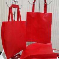 Tas Souvenir Spunbond Polos / Reusable Plain Tote Shopping Bag S