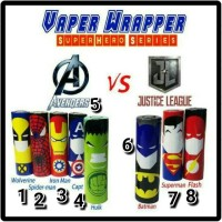 WRAP BATRE VAPOR VAP VAPING SUPER HERO NEW VERSION