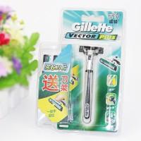 Pisau Cukur Gillette Vector Plus Stainless Razor Free Cartridge 6 Pcs